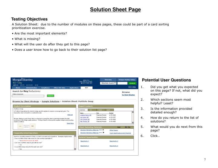 Solution Sheet