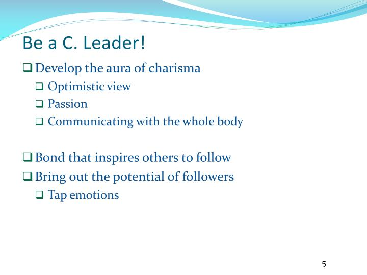 Be a C. Leader!