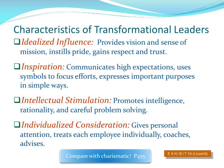 Characteristics of Transformational Leaders
