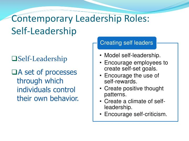 Contemporary Leadership Roles: