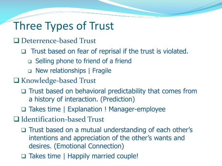 Three Types of Trust