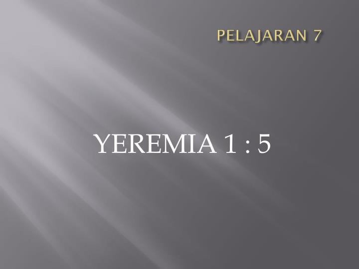 PELAJARAN 7