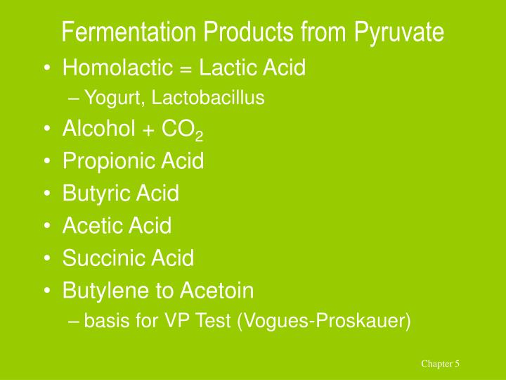 Fermentation Products from