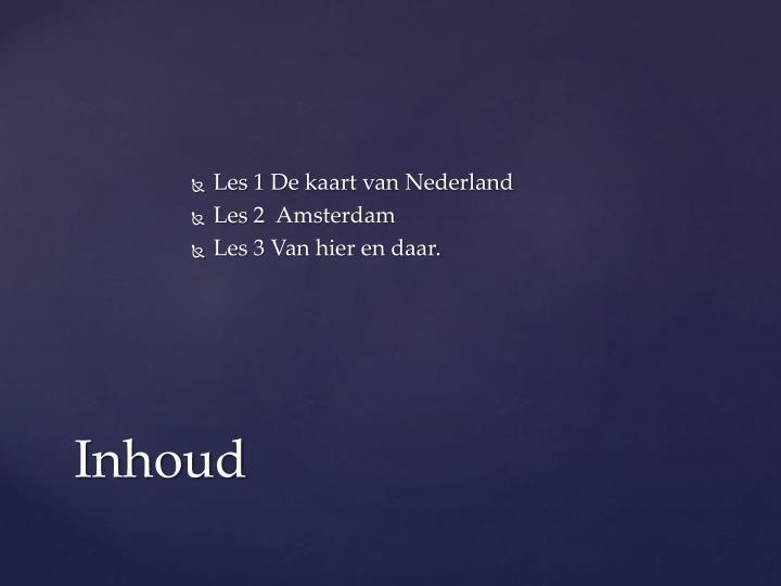 Les 1 De kaart van Nederland