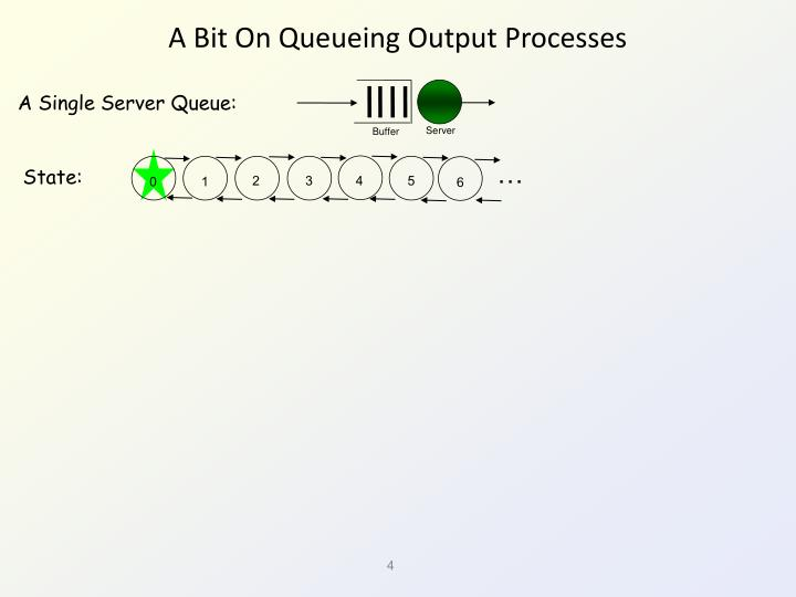 A Bit On Queueing Output Processes
