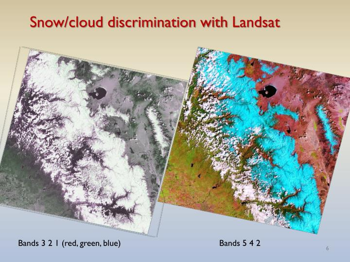 Snow/cloud discrimination with