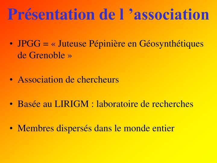 Présentation de l'association