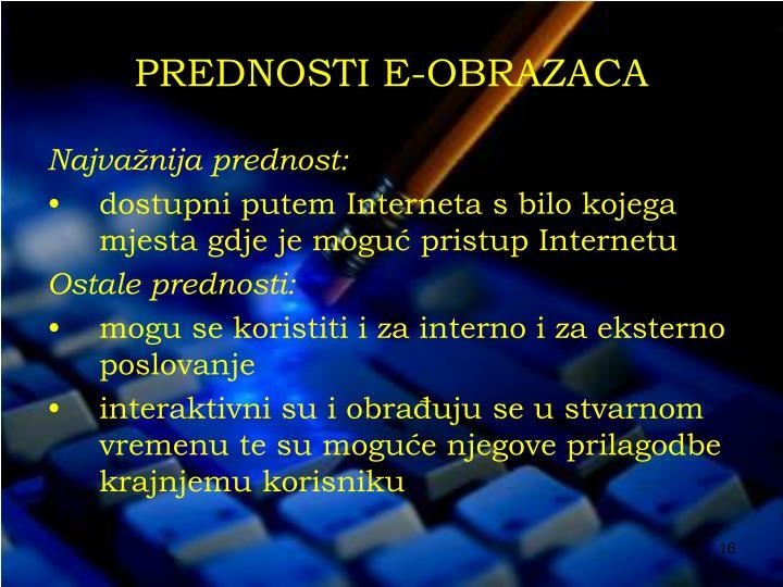 PREDNOSTI E-OBRAZACA