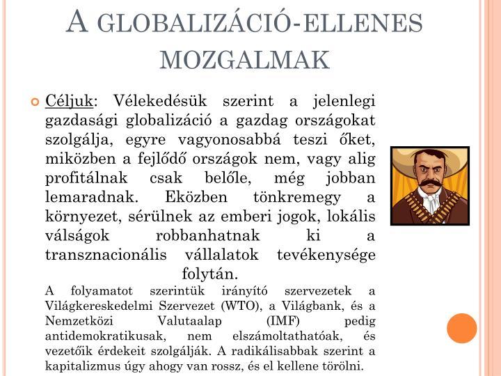 A globalizáció-ellenes mozgalmak