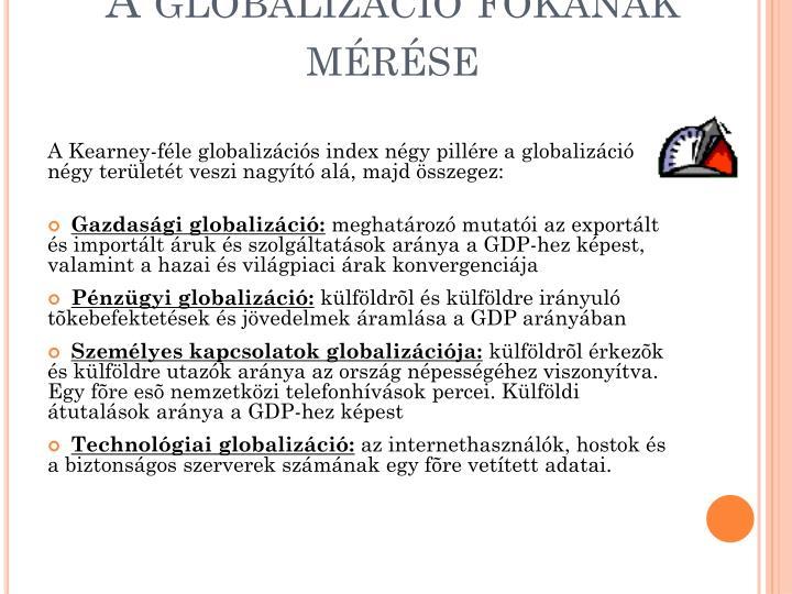 A globalizáció fokának mérése