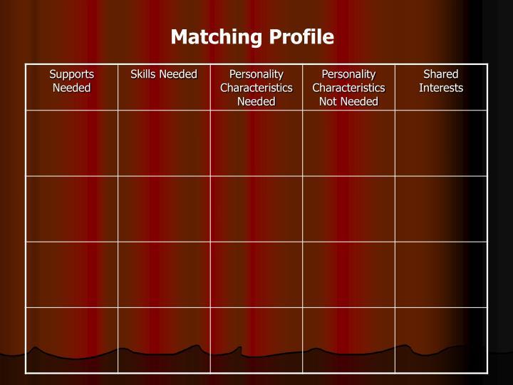 Matching Profile