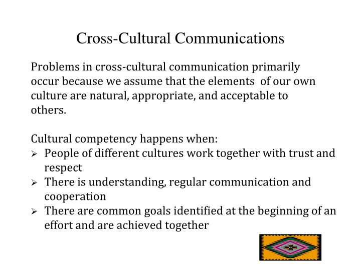 Cross-Cultural Communications
