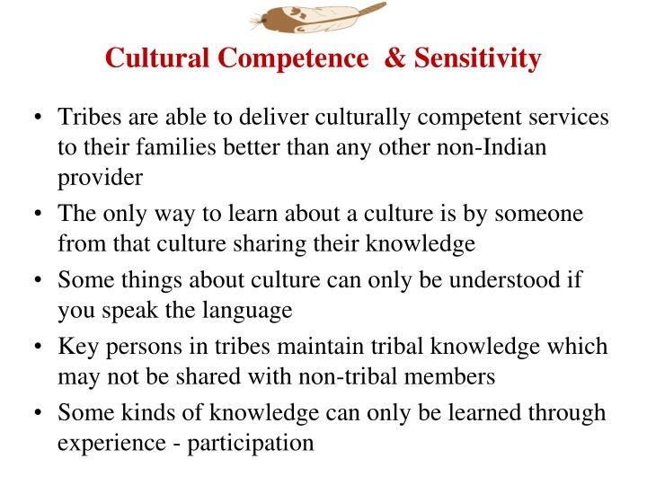 Cultural Competence  & Sensitivity