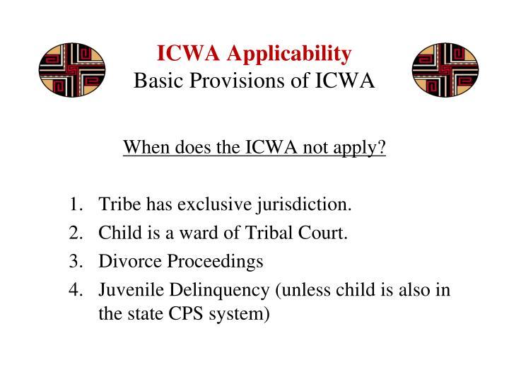 ICWA Applicability