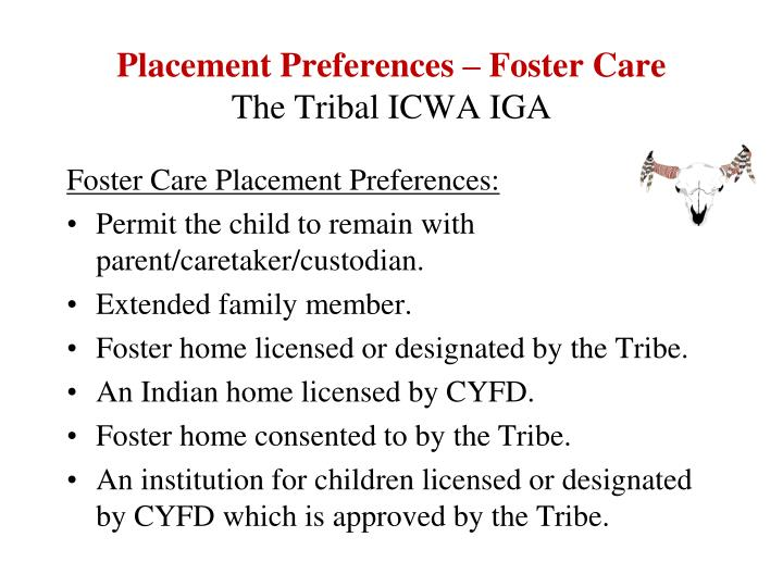 Placement Preferences – Foster Care