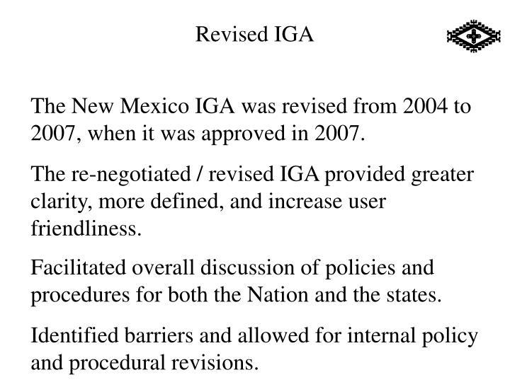 Revised IGA