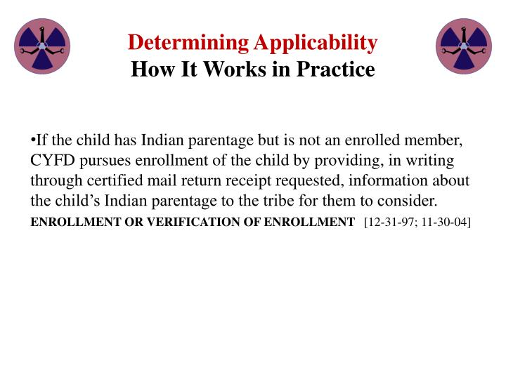 Determining Applicability