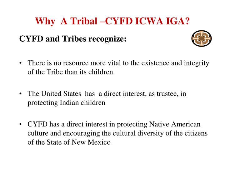Why  A Tribal –CYFD ICWA IGA?