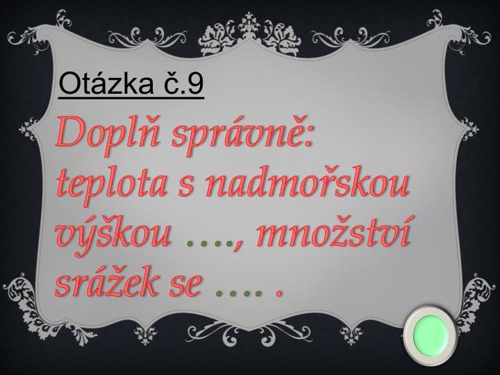 Otázka č.9