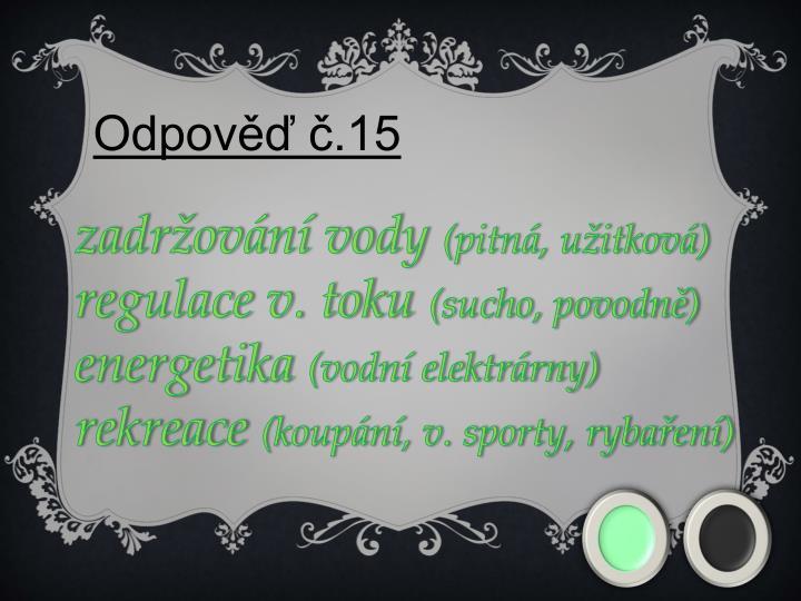 Odpověď č.15