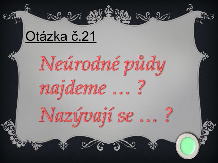 Otázka č.21