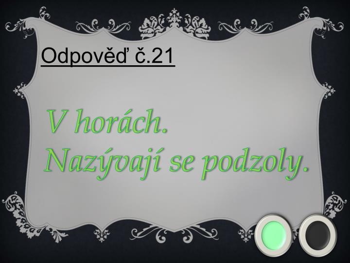 Odpověď č.21