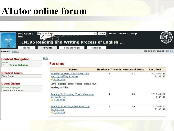 ATutor online forum