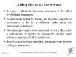 calling hll to ll conventions1
