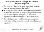 passing parameters through the general purpose registers