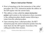 return instruction pointer