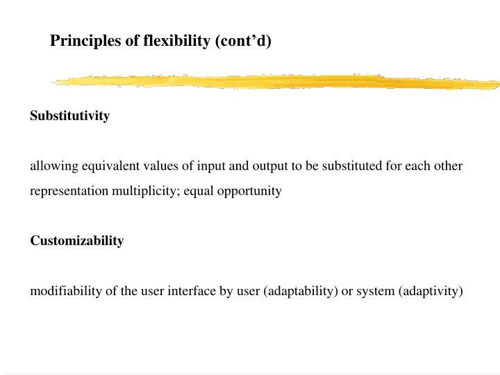 Principles of flexibility