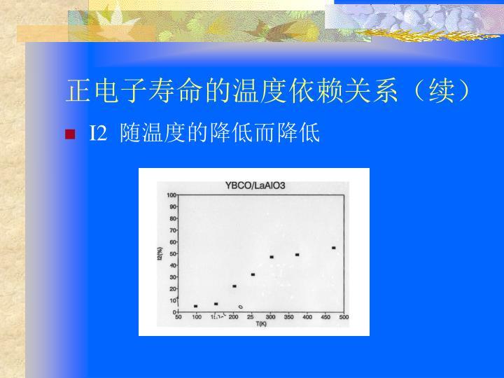 正电子寿命的温度依赖关系(续)
