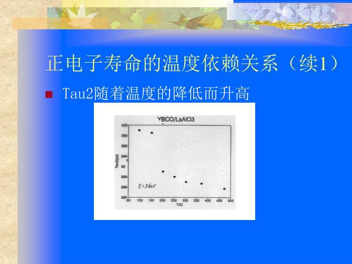 正电子寿命的温度依赖关系(续