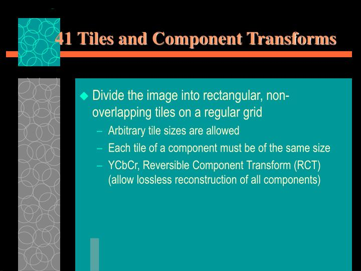 41 Tiles and Component Transforms