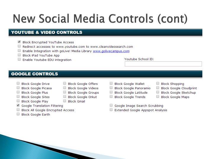 New Social Media Controls (