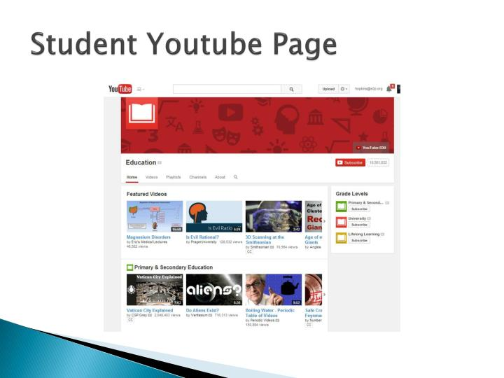 Student Youtube Page