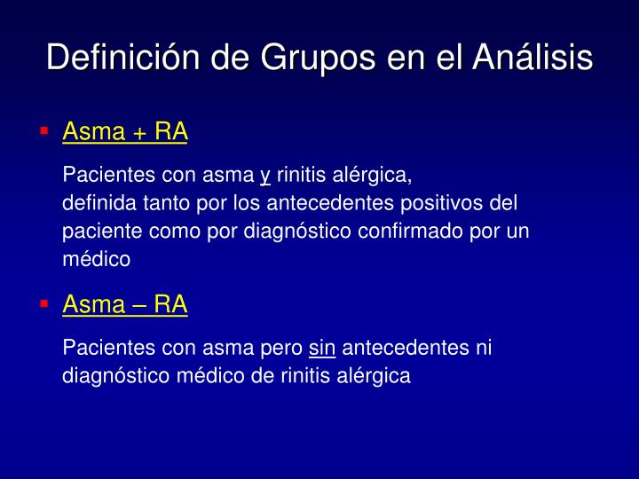 Definición de Grupos en el Análisis