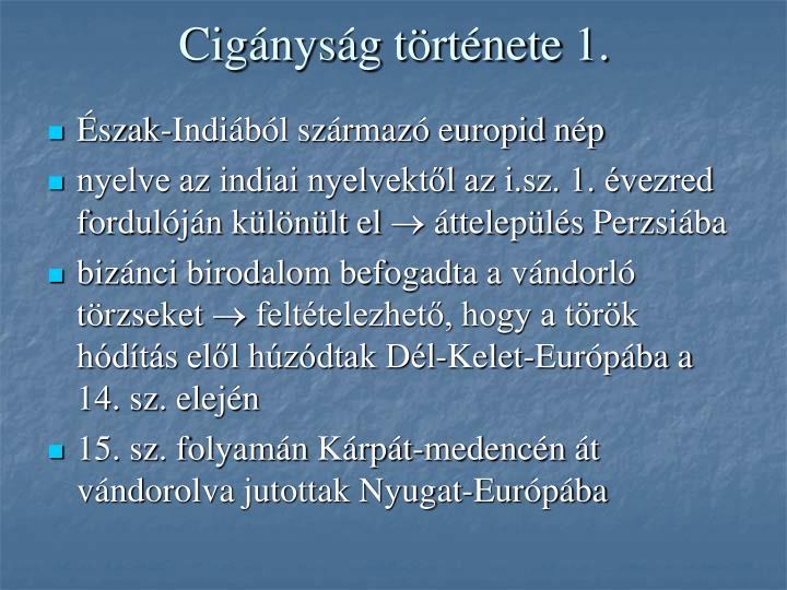 Cigányság története 1.