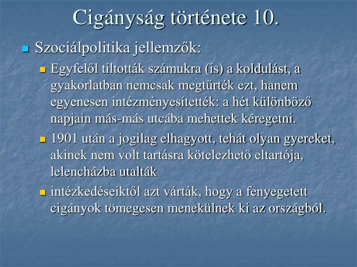 Cigányság története 10.