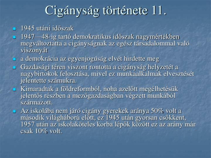 Cigányság története 11.