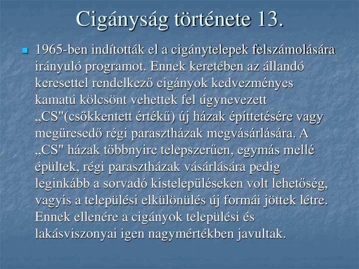 Cigányság története 13.