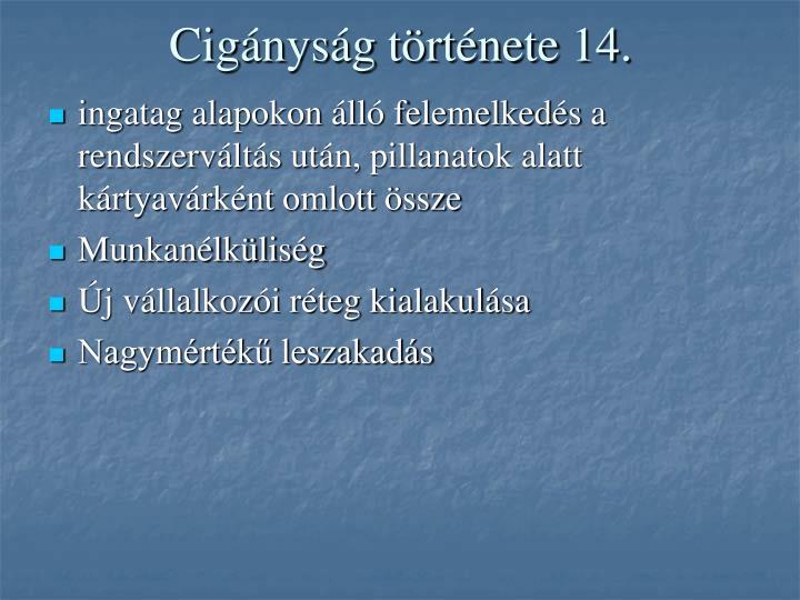 Cigányság története 14.