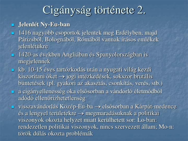 Cigányság története 2.