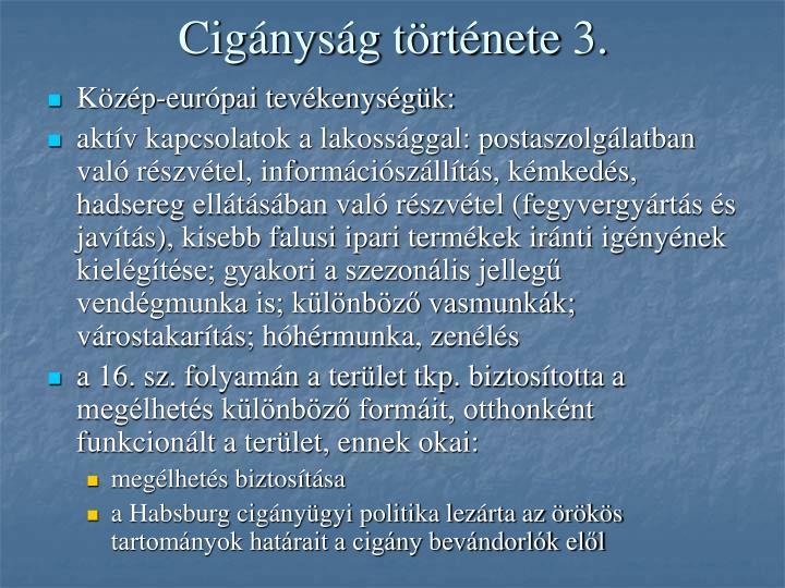 Cigányság története 3.