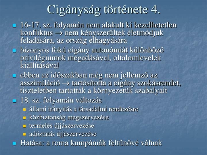 Cigányság története 4.