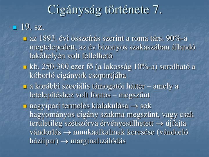 Cigányság története 7.
