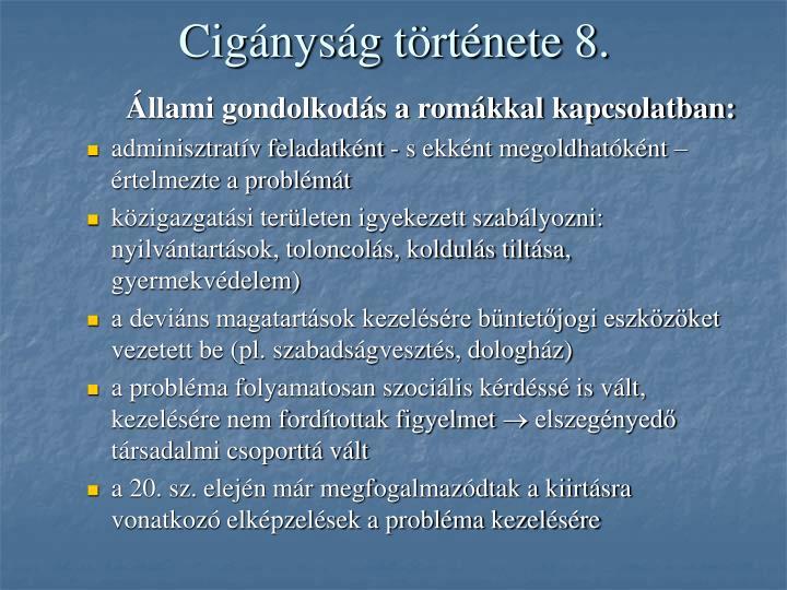 Cigányság története 8.