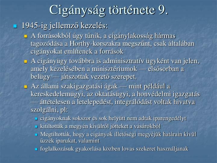 Cigányság története 9.