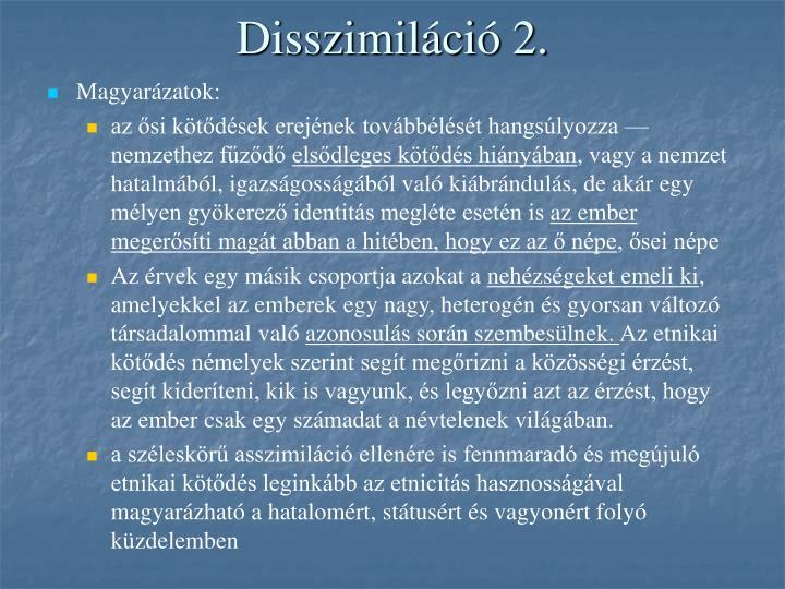 Disszimiláció 2.