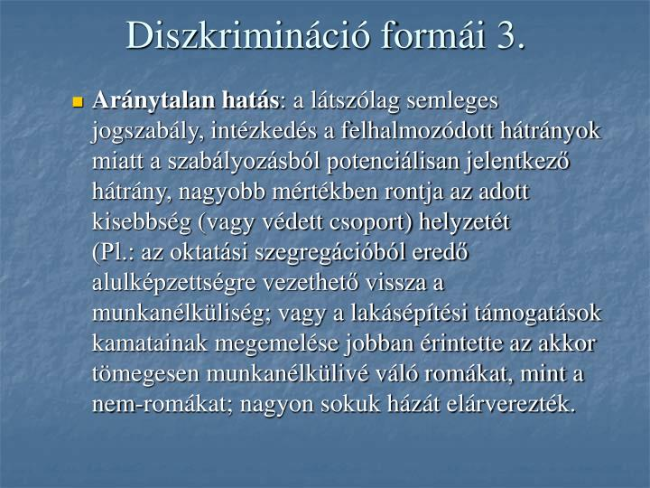 Diszkrimináció formái 3.